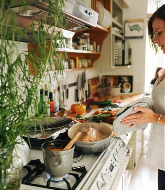 Karla preparing dinner