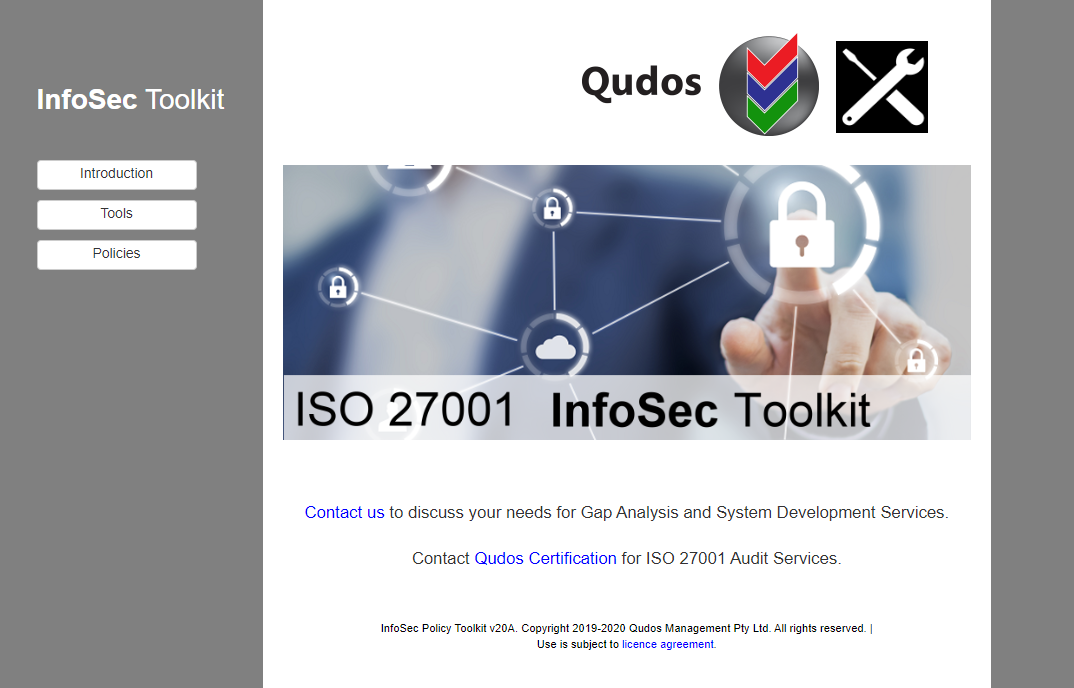 ISO 27001 InfoSec Toolkit