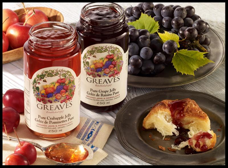 Crabapple and Grape Jellies by Greaves Jams