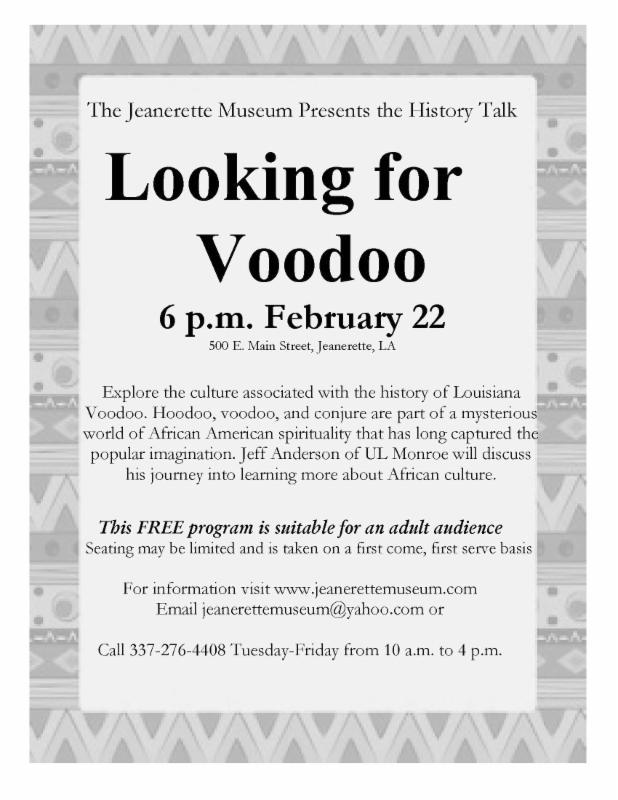 voodoo talk jeanerette museum