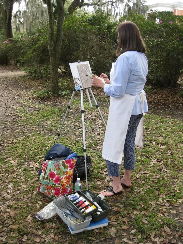 Shadows Plein Air Artist Painting