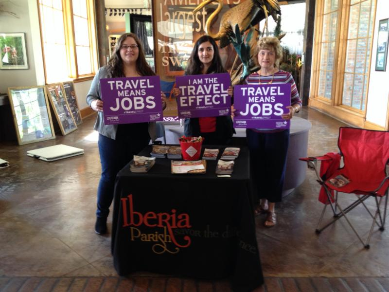 Iberia Parish Day Atchafalaya Welcome Center- Brittany Racca, Lauren Holmes, Margaret Melancon