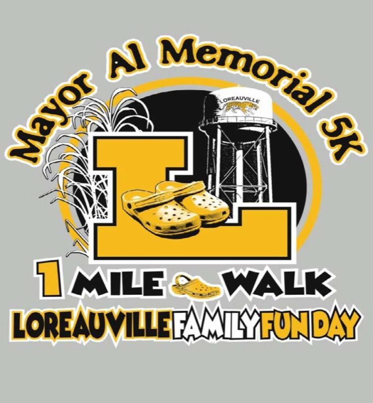 Loreauville Family Fun Day 5K Logo