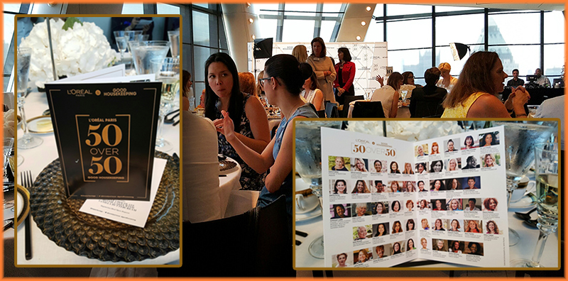 50 OVER 50 brochure Outside _ Inside_ the Luncheon on the 44th floor of the Hearst Tower