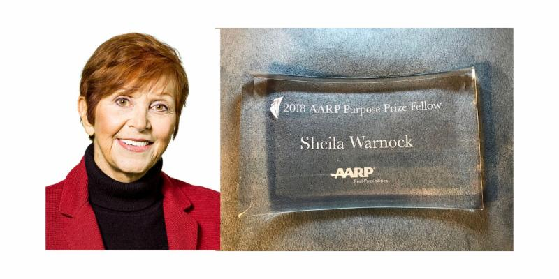 Sheila and the AARP Purpose Prize award