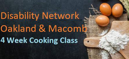 DNOM's 4 week Cooking Class Banner