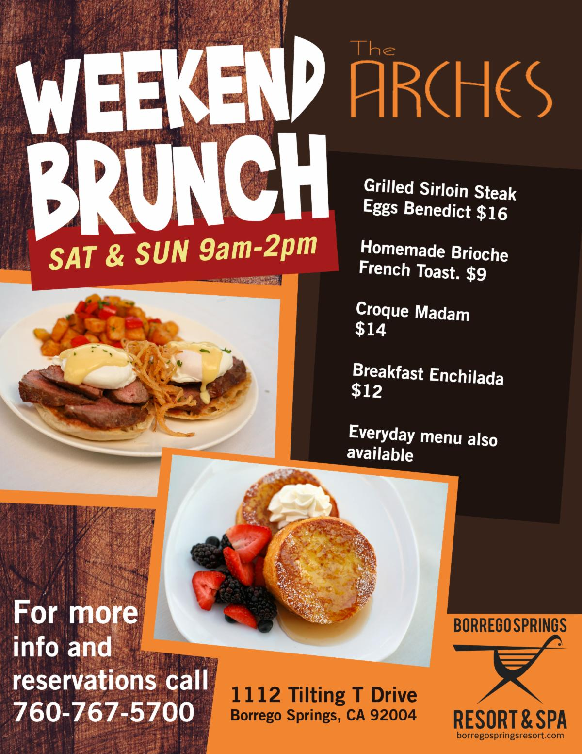 Weekend Brunch at The Arches at the Borrego Springs Resort