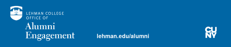 Lehman College Alumni Engagement Office Footer links to lehman.edu/alumni