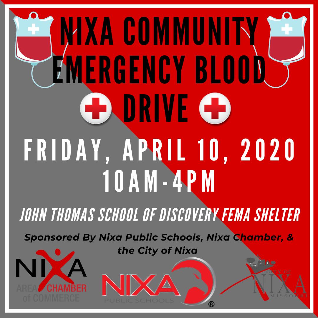 Nixa Community Emergency Blood Drive