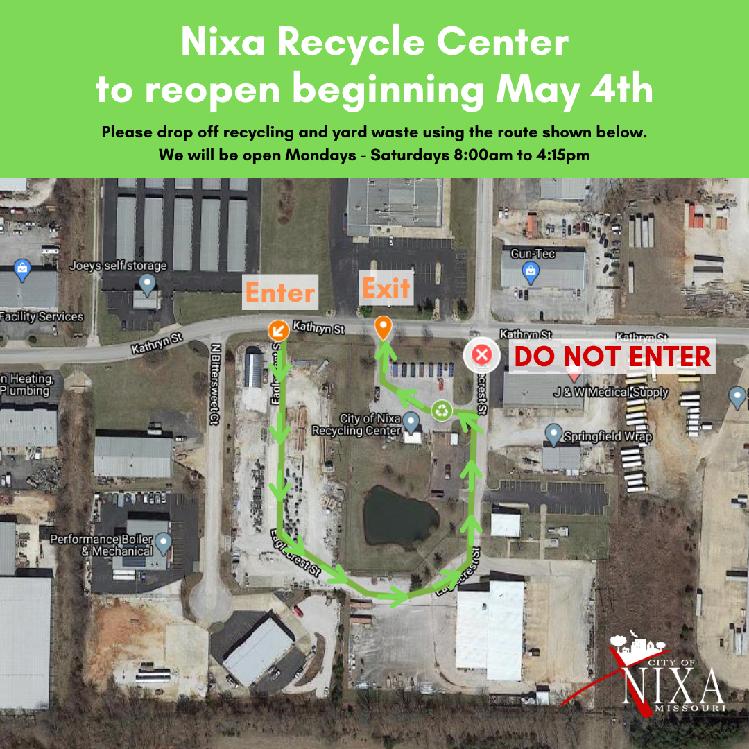 Recycle Center Reopening
