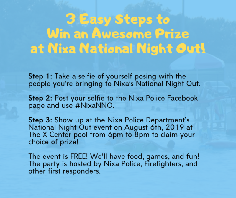 How to win prizes at Nixa National Night Out