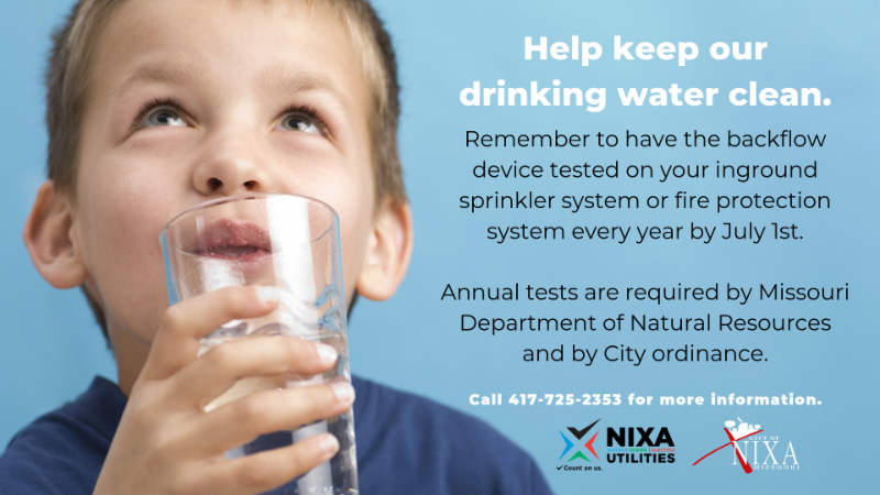 Keep your drinking water clean.