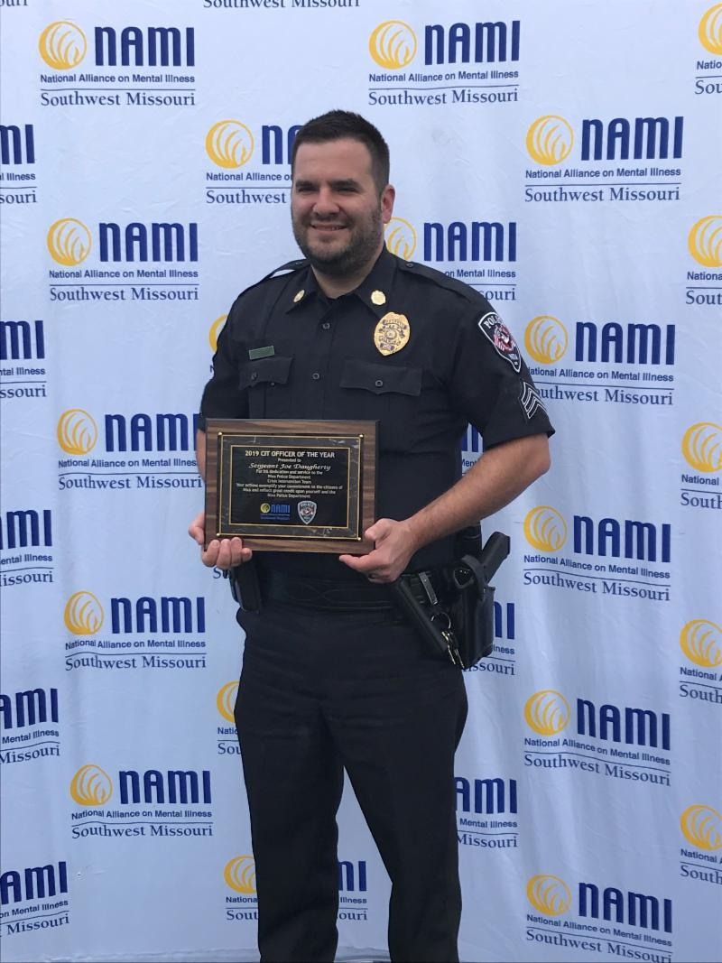 Sgt. Daugherty wins CIT Officer of the Year Award.