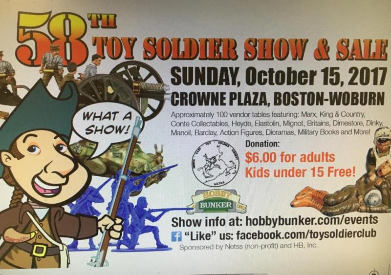 October 15, 2017 NETSS Toy Soldier Show and Sale