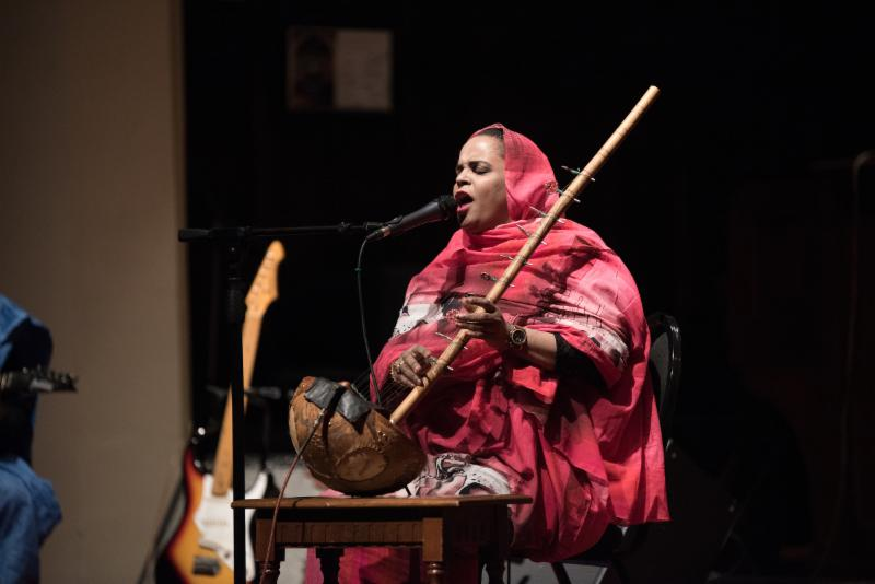 Noura Mint Seymali performs her ardine at Herrick Chapel