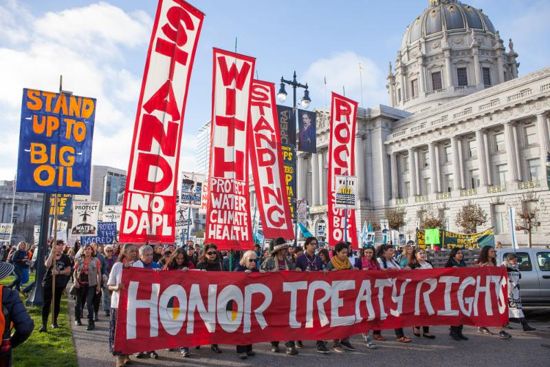 Indigenous peoples protest at the capital