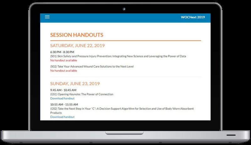 View session handouts online