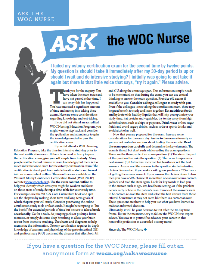 Click to read this segment of Ask The WOC Nurse