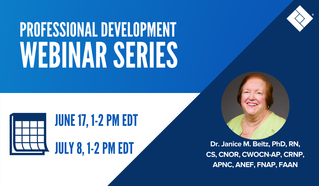 Professional Development Webinar Series - June 17 @ 1 PM EDT and July 8 @ 1 PM EDT. Speaker Janice Beitz