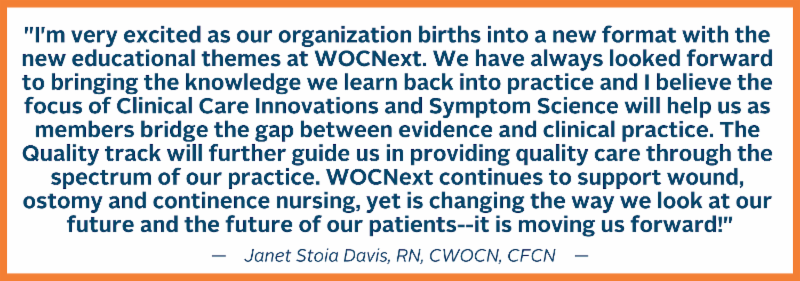 Quote about WOCNext 2019 from Janet Stoia Davis