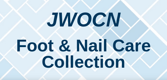 Check out the JWOCN foot and nail care certification collection.