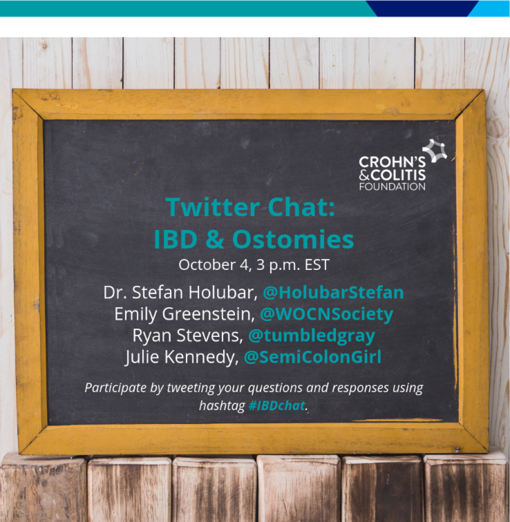 Join us for an Ostomy Twitter Chat on October 4 3PM EST