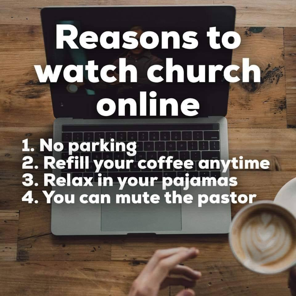 reasons to watch church online