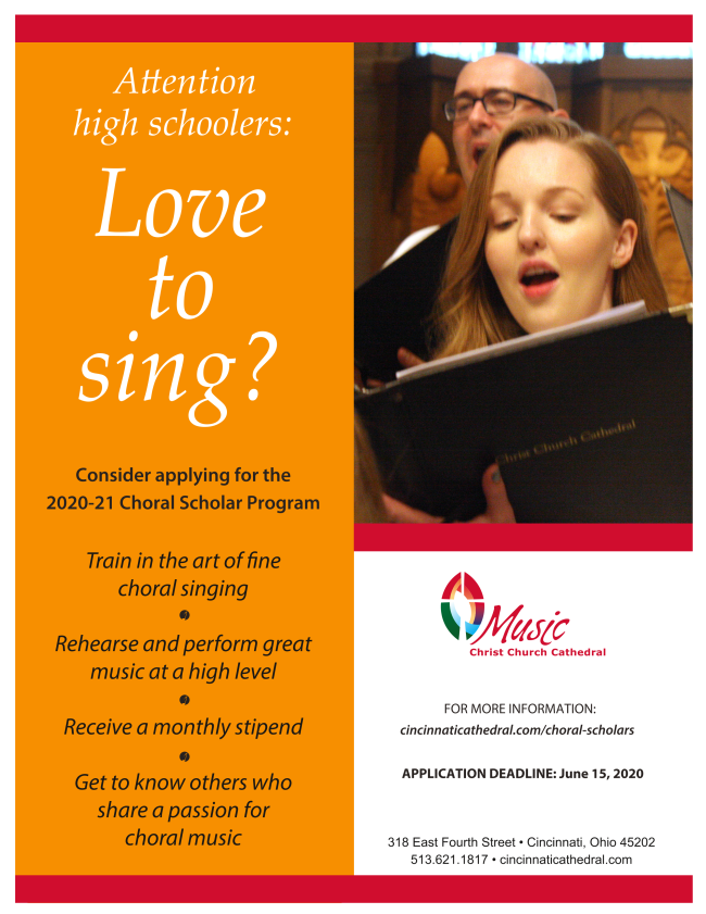 choral scholar flyer