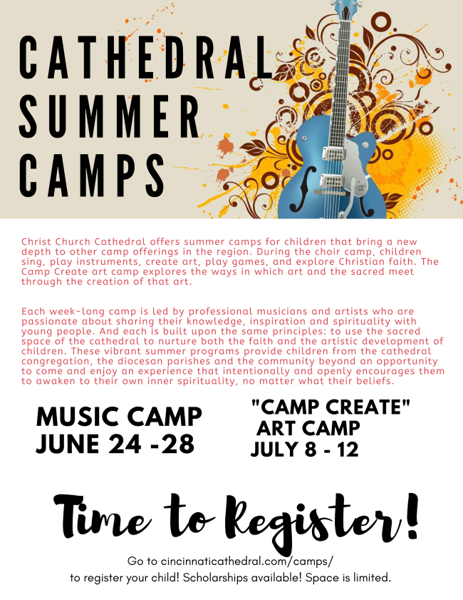 Cathedral summer camp flyer