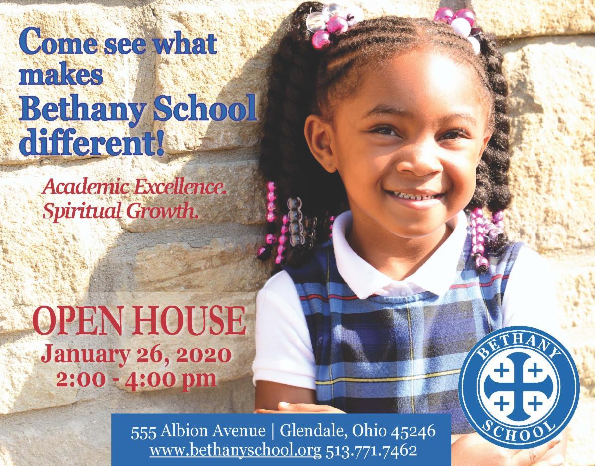 Bethany School Open House Jan 26