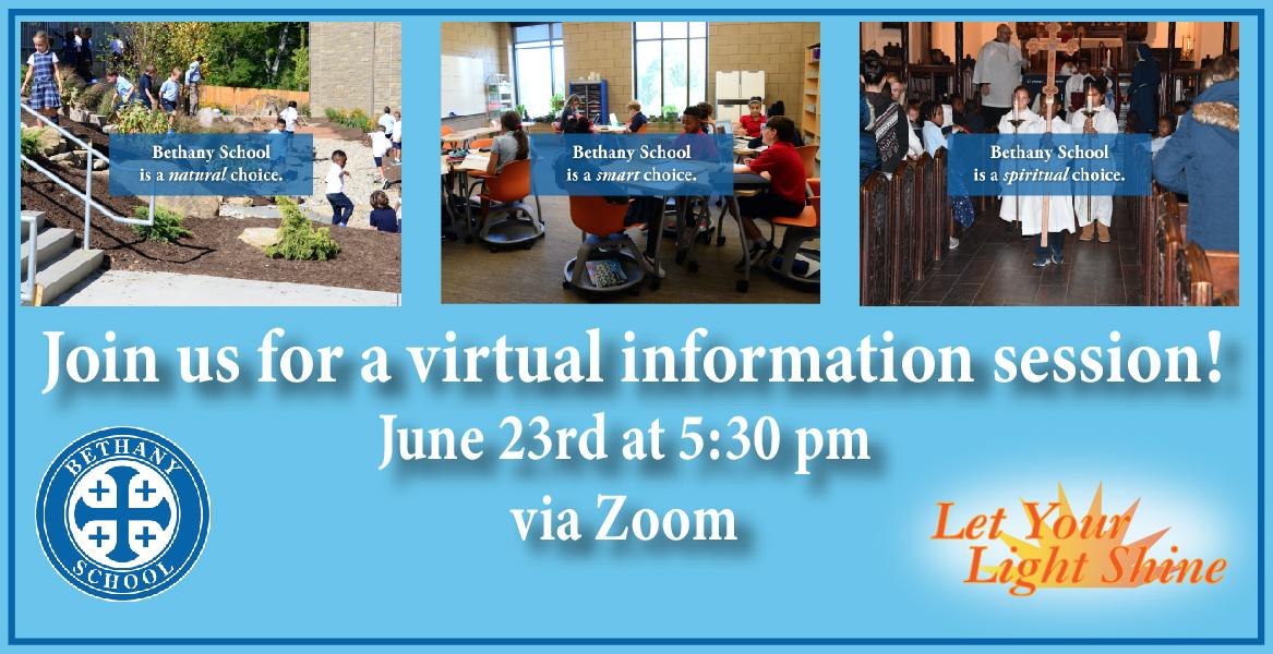 Bethany School Virtual Info Sessions
