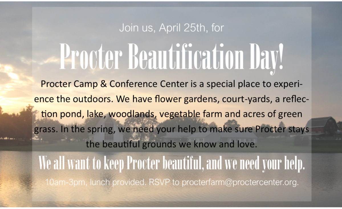 Procter Beautification day