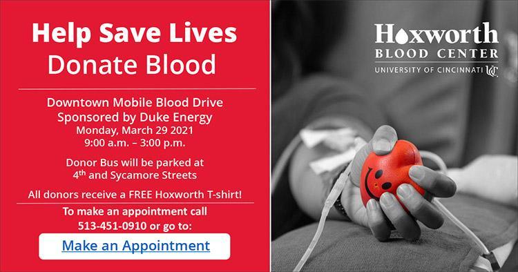 Downtown Blood Drive flyer