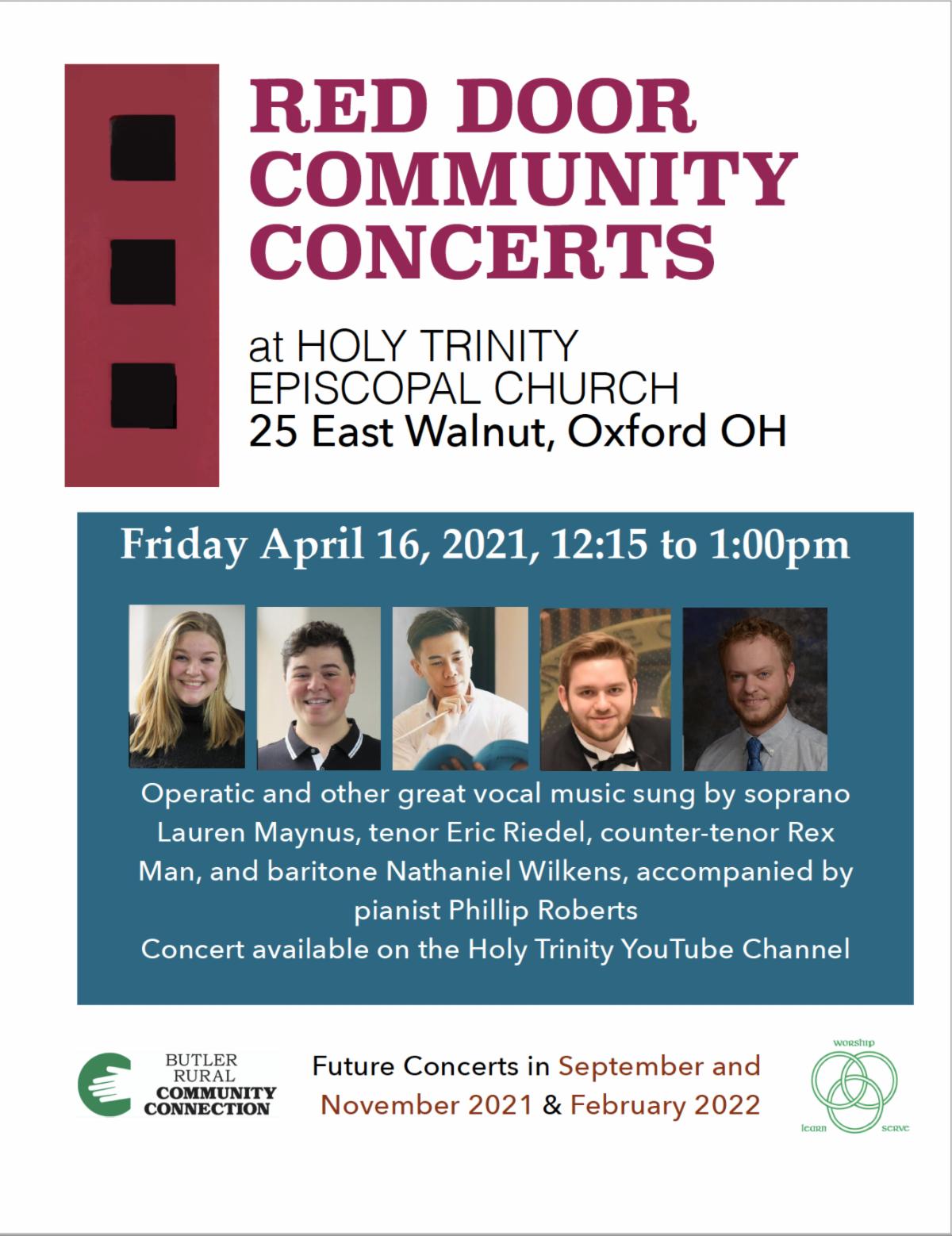 Red Door Community Concert flyer