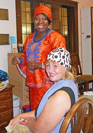 Ladies with African headwraps