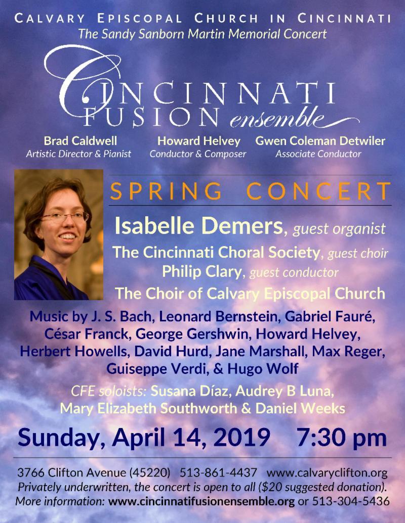 Cincinnati Fusion Ensemble Spring Concert April 14