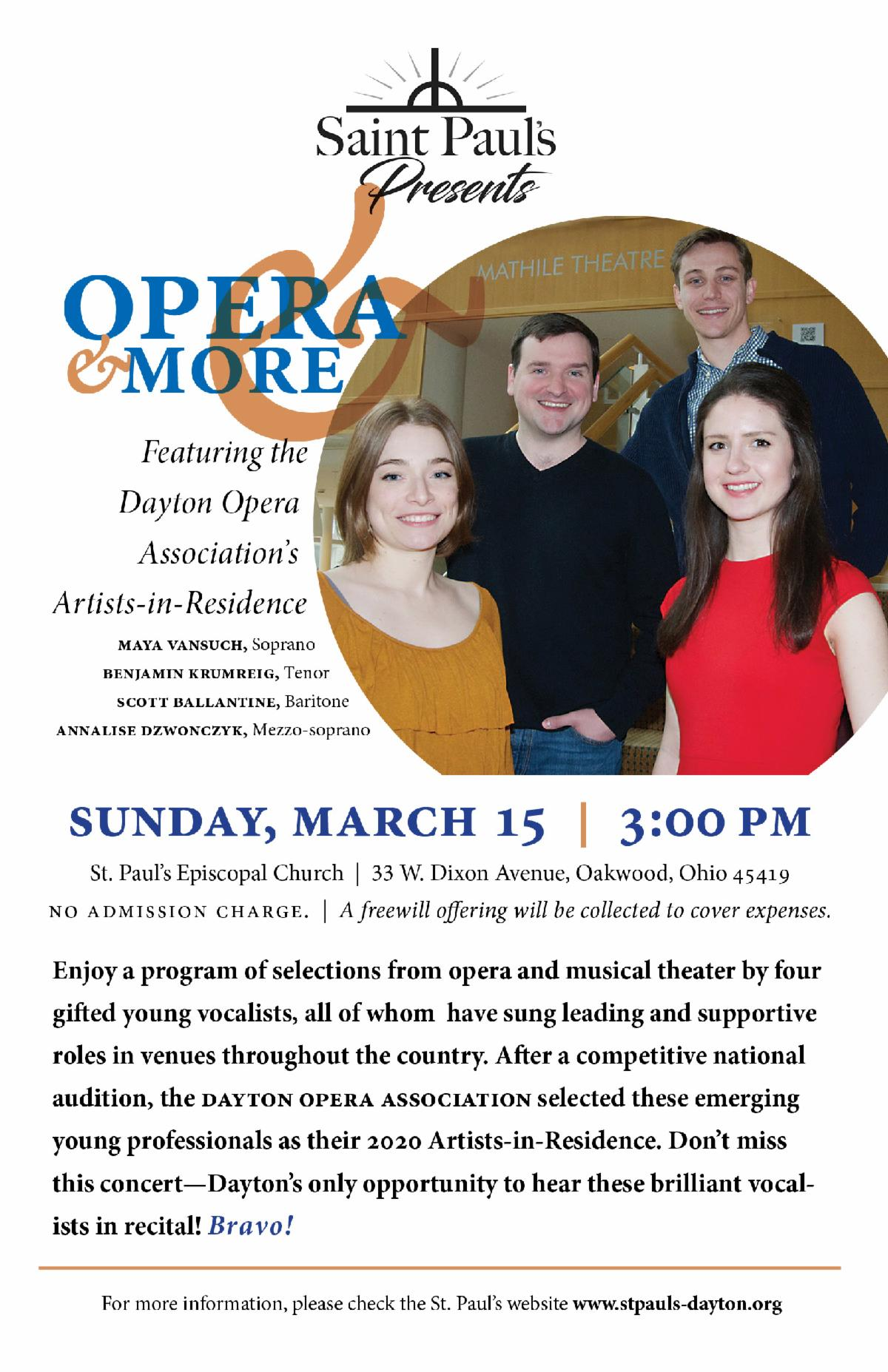 Opera and More flyer