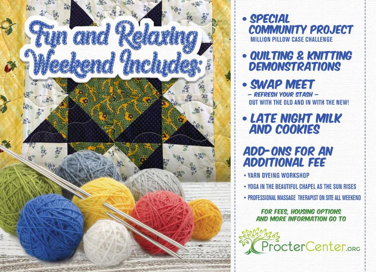 PCC Knitting postcard