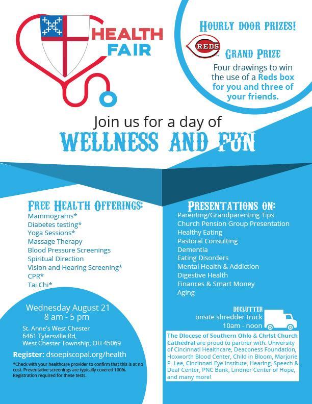 Health Fair Aug 21