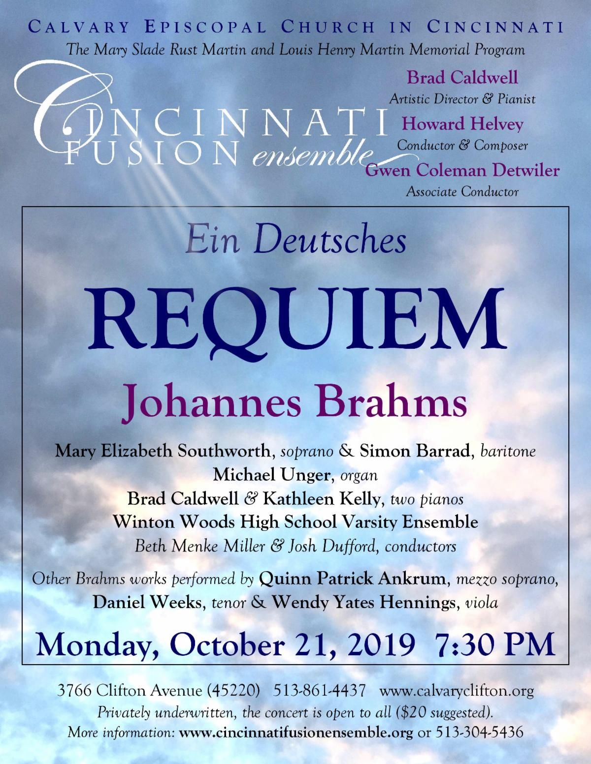 Brahms Requiem flyer