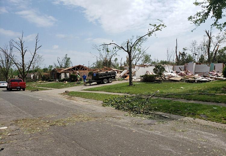 Tornado damage in Trotwood