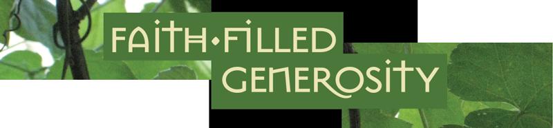 faith-filled generosity