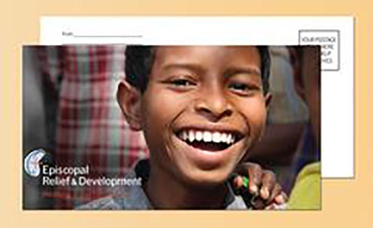 image of pew envelope for Episcopal Relief and Development Sunday