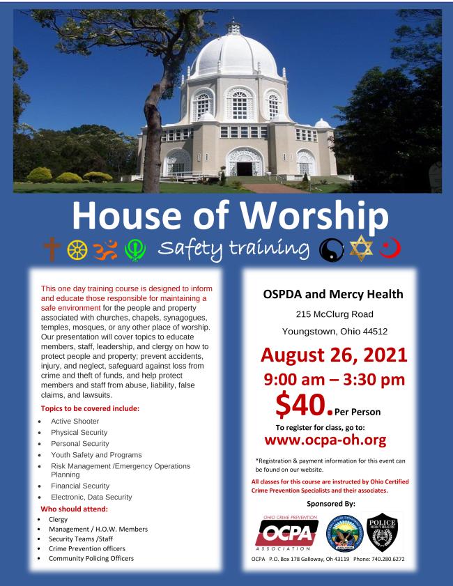 House of Worship Security Program Training
