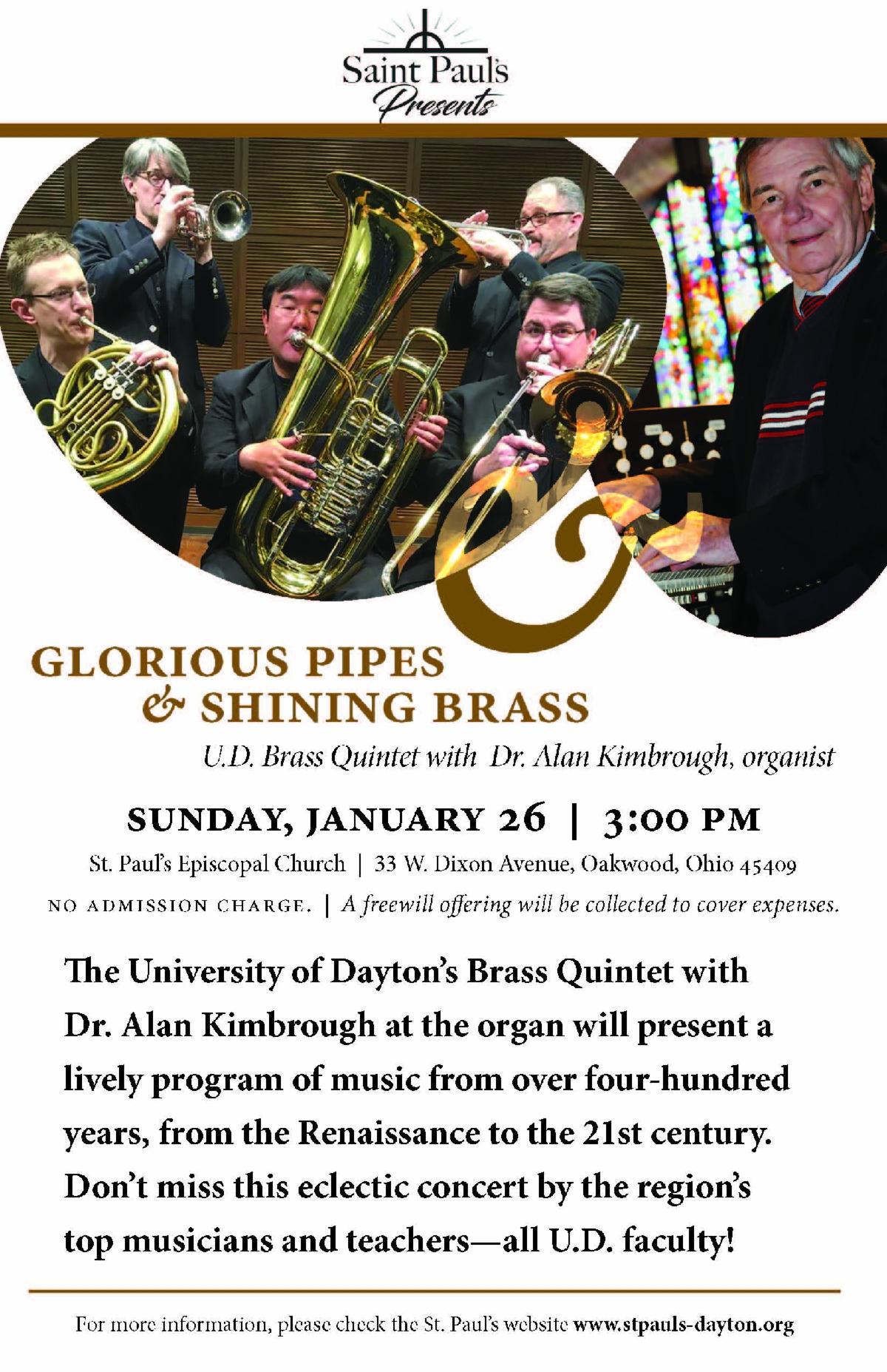 Brass and Organ flyer