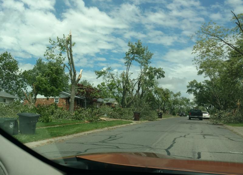 tornado damage in Dayton
