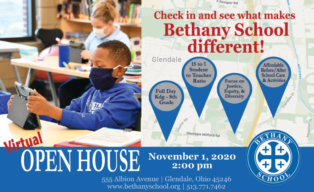 Bethany School Open House November 1 at 2 pm