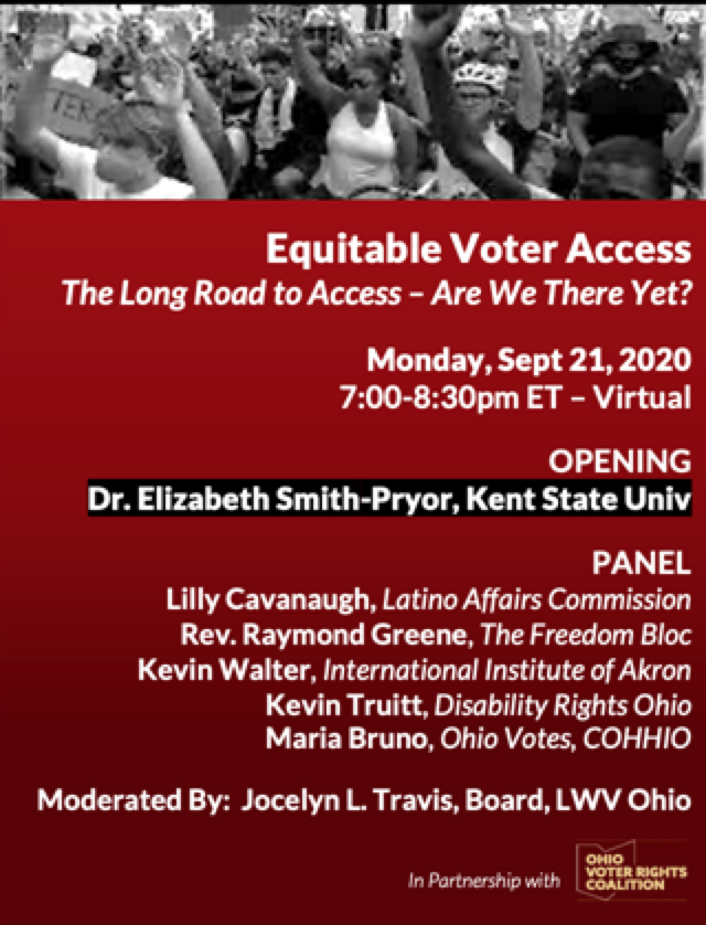 Equitable Voter Access flyer