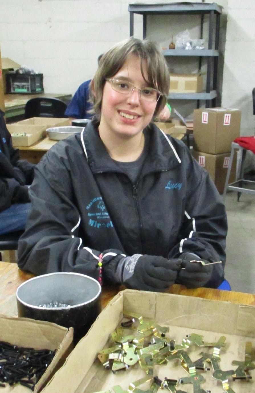 Lucy Working on Throttle Brackets.JPG