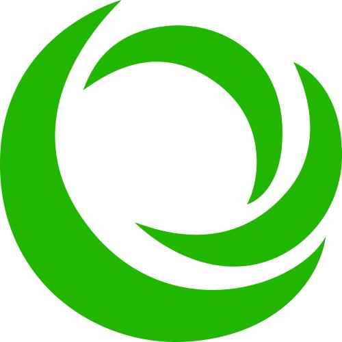 Green swirl_ Pacer Center logo